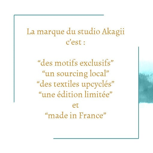 La marque du studio Akagii c est aussi ? #motifsexclusifs #exclusiveprints #sourcinglocal #localproduce #textileupcycling #upcyclingfashion #limitededition #éditionlimitée #madeinfrance #madeinlyon