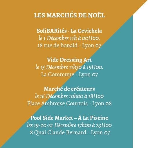 Xmas markets'calendar LYON 2019 #xmas #xmastree #xmasmarket #xmasgift #ecoconscious #perenoel #santaclaus #merenoel #huitres #vinchaud #weekender